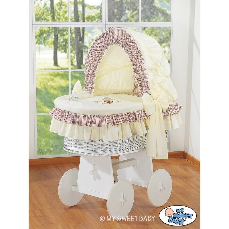 berceau b b osier teddy beige berceaux osier. Black Bedroom Furniture Sets. Home Design Ideas