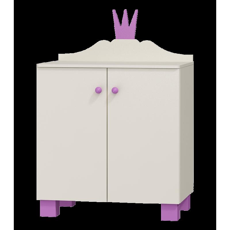 commode princesse 2 portes princesse collection. Black Bedroom Furniture Sets. Home Design Ideas