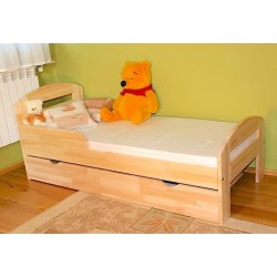 Lit enfant en bois de pin massif Tim2 avec tiroir 160x70 cm