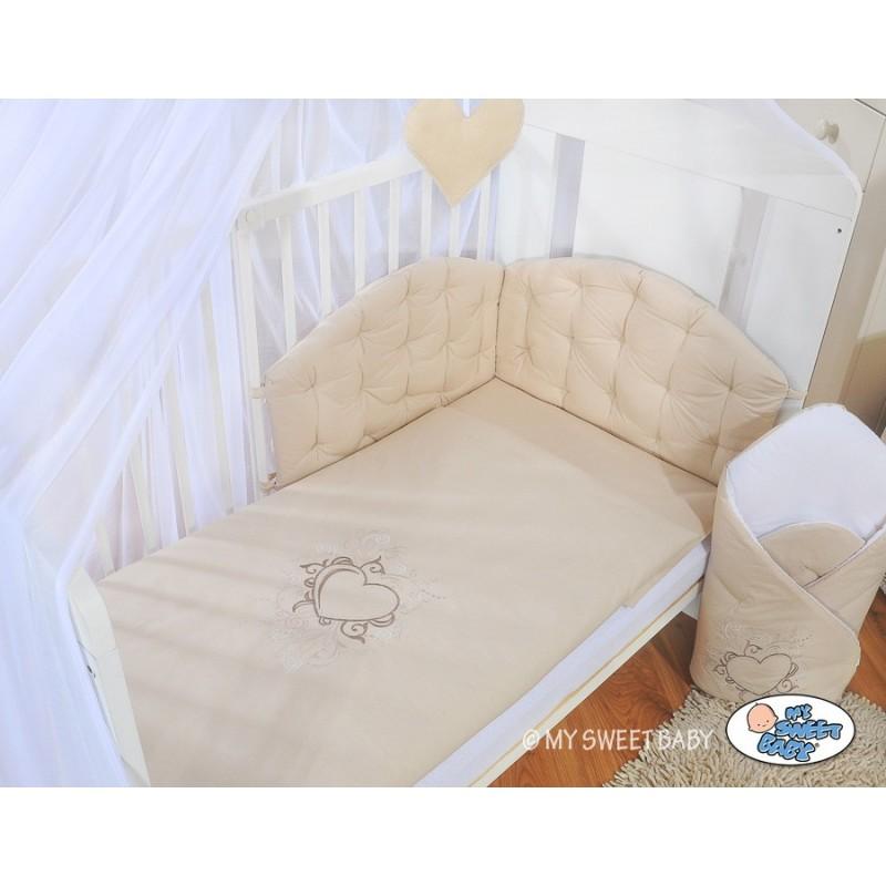 Linge de lit couette d 39 oreiller et tour de lit chic chic collection - Tour de lit beige ...