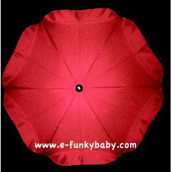 Ombrelle pour poussette universelle rouge