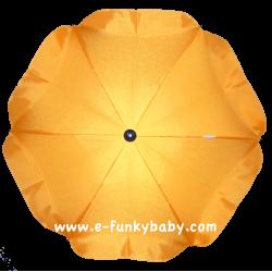 Ombrelle pour poussette universelle jaune
