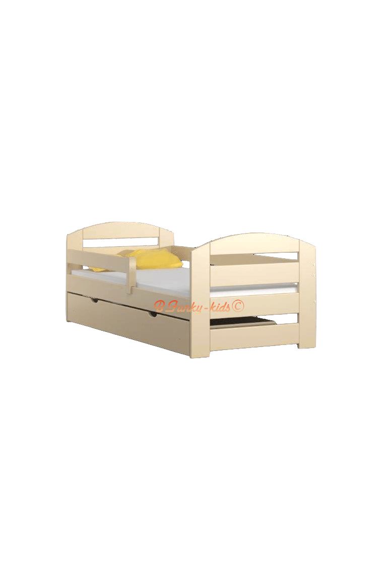 lit enfant en bois de pin massif kam3 avec tiroir 160x70 cm lits 16. Black Bedroom Furniture Sets. Home Design Ideas