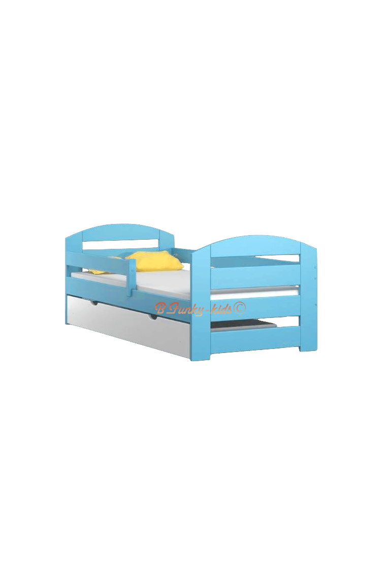 lit en bois de pin massif kam3 avec tiroir 180x80 cm lits 180x80 cm. Black Bedroom Furniture Sets. Home Design Ideas