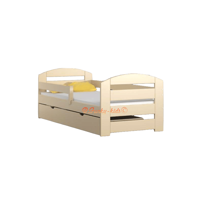 lit en bois de pin massif kam3 avec tiroir 180x80 cm lits 180x80 cm. Black Bedroom Furniture Sets. Home Design Ideas