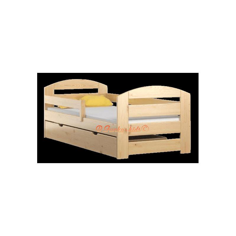 Lit en bois de pin massif kam3 avec tiroir 180x80 cm lits - Bois de lit 180 ...