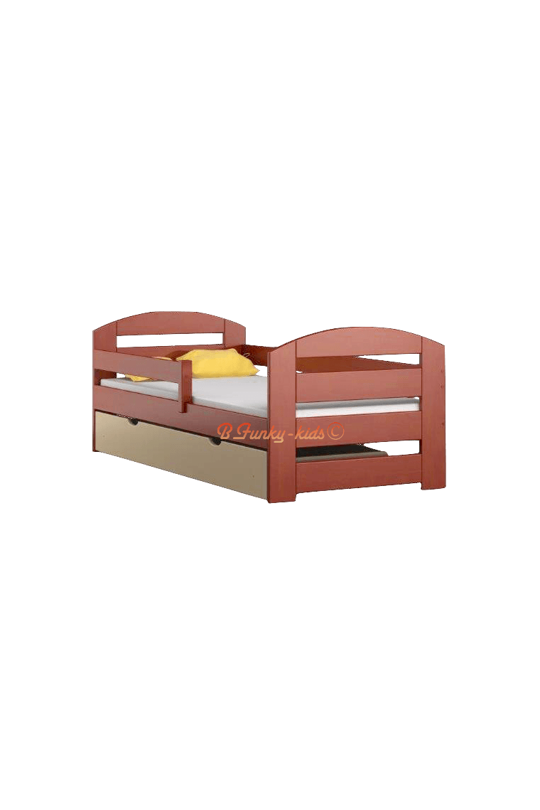 Lit en bois de pin massif kam3 avec tiroir 180x80 cm lits 180x80 cm - Lit en bois avec tiroir ...