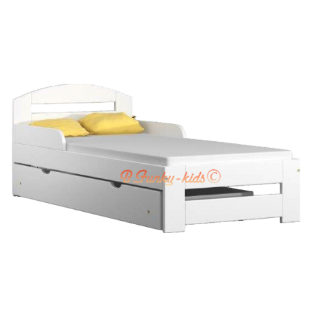 lit enfant en bois de pin massif tim1 avec tiroir 160x70 cm lits 16. Black Bedroom Furniture Sets. Home Design Ideas