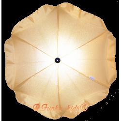 Ombrelle pour poussette universelle jaune citron
