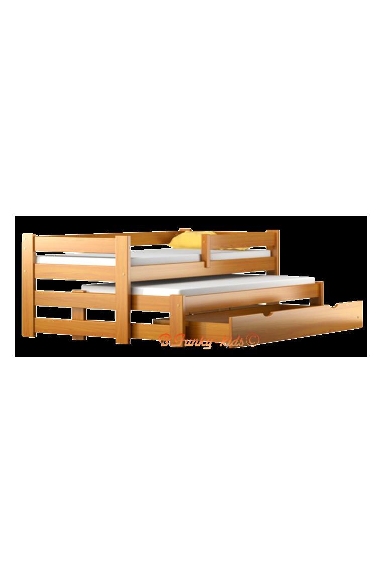 lit gigogne en bois massif avec tiroir et matelas pablo 190x80 cm b b shopping march. Black Bedroom Furniture Sets. Home Design Ideas