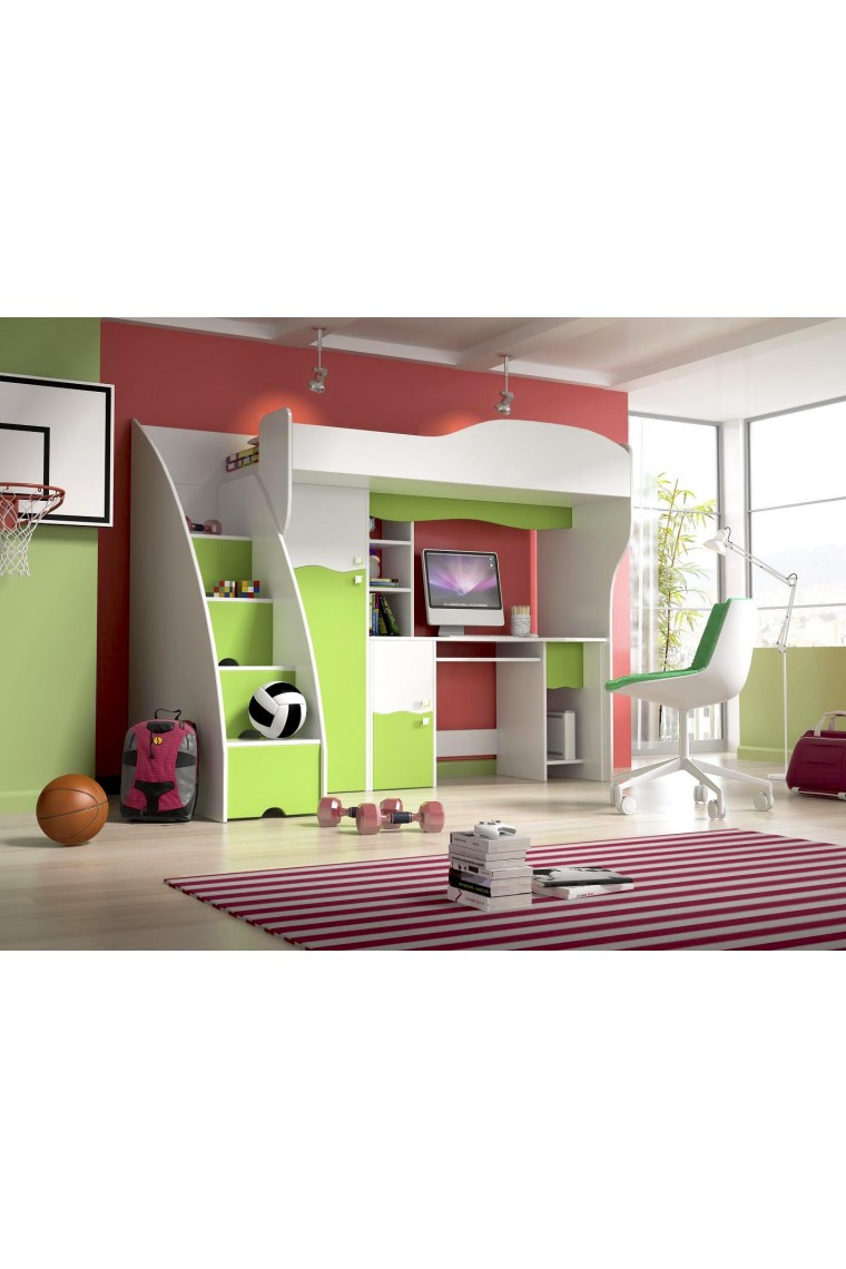 lit mezzanine avec armoire beautiful lit mezzanine rose. Black Bedroom Furniture Sets. Home Design Ideas