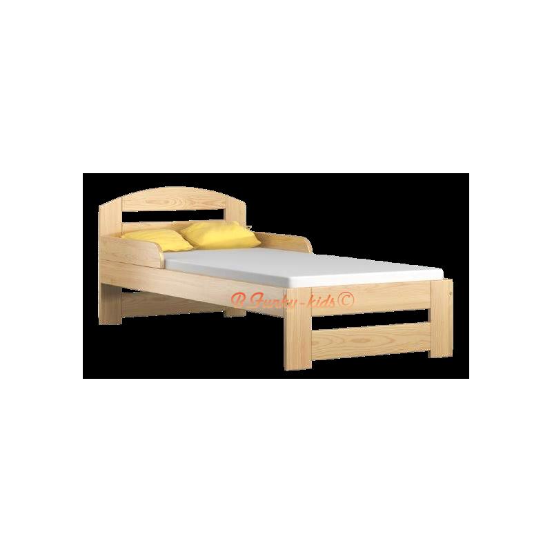lit enfant en bois de pin massif tim1 160x70 cm lits 160x70 cm. Black Bedroom Furniture Sets. Home Design Ideas