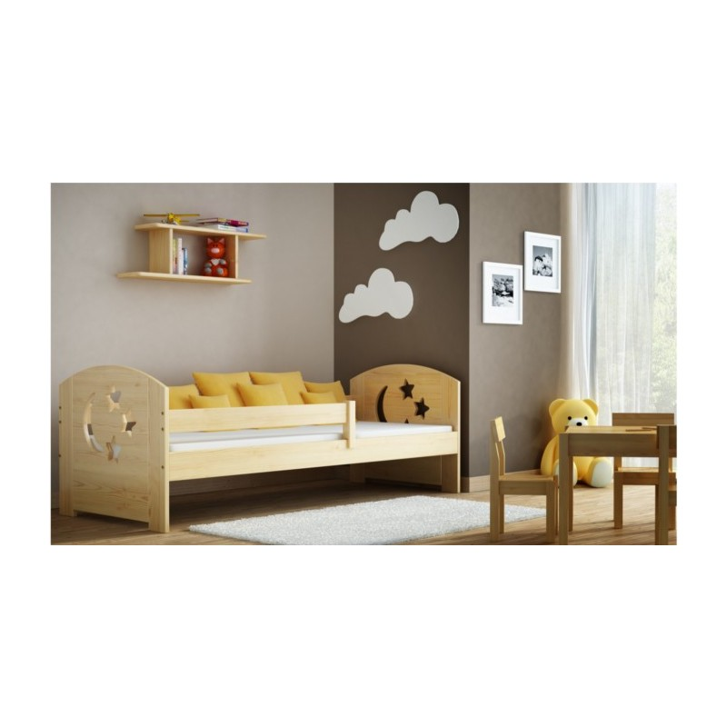lit en bois de pin massif molly 180x80 cm lits. Black Bedroom Furniture Sets. Home Design Ideas