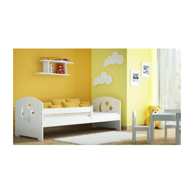 lit enfant en bois de pin massif molly 160x70 cm lits. Black Bedroom Furniture Sets. Home Design Ideas