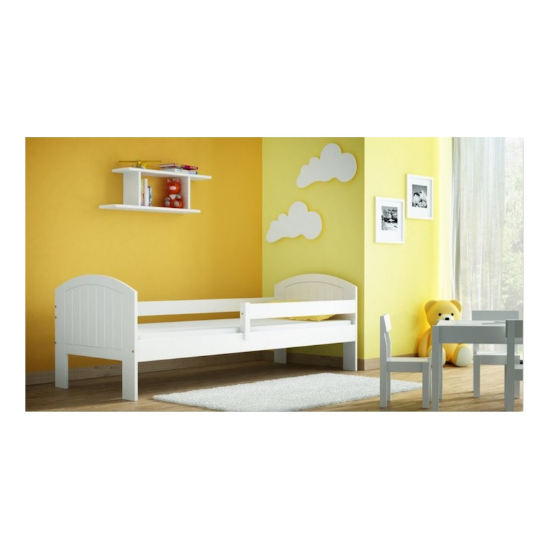 lit enfant en bois de pin massif milly avec tiroir 160x70 cm lits 1. Black Bedroom Furniture Sets. Home Design Ideas