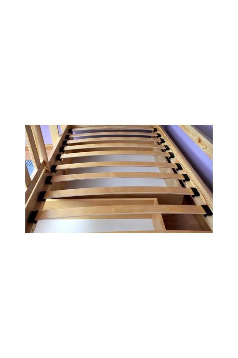 lit superpos en bois massif bambi avec matelas et tiroirs 160x70 cm b b shopping march. Black Bedroom Furniture Sets. Home Design Ideas