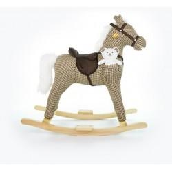 Cheval à Bascule Mustang beige
