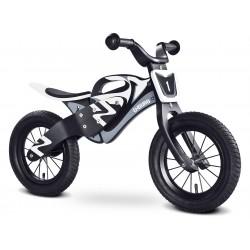 Enduro blanc noir bois de vélo sans pédales