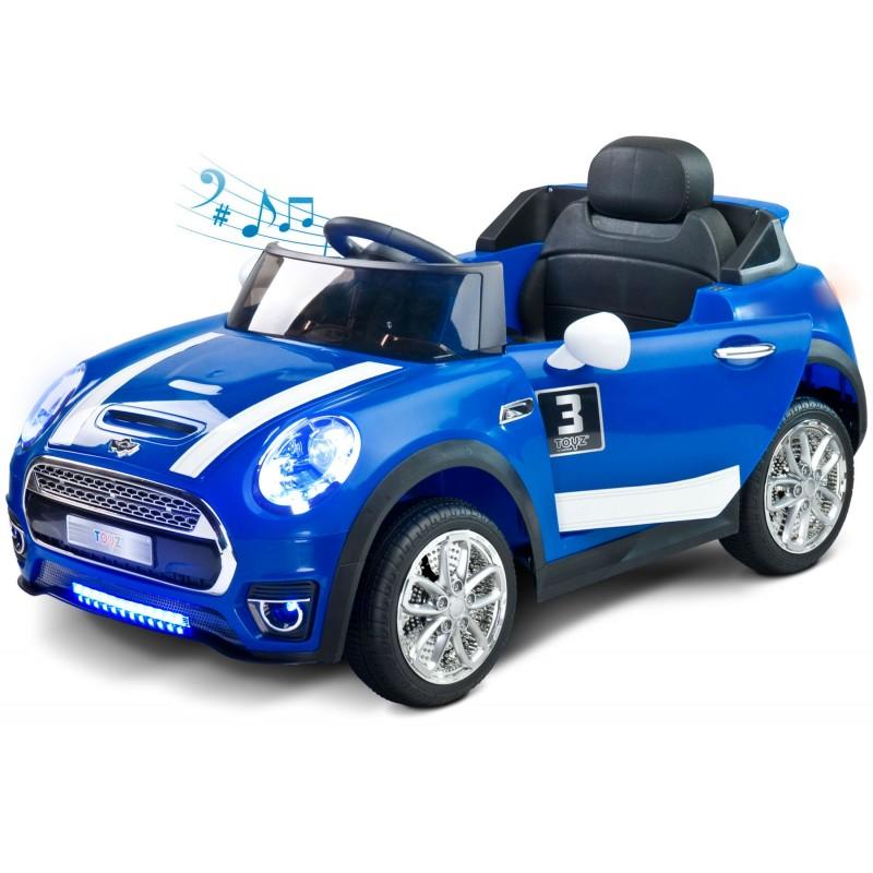 voiture lectrique maxi 12v bleu avec t l commande. Black Bedroom Furniture Sets. Home Design Ideas