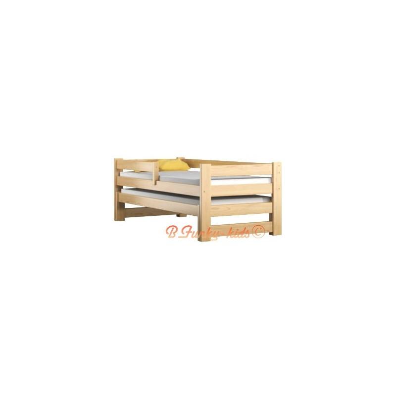 Lit Bébé En Bois Avec Tiroir : Lit gigogne en bois massif avec tiroir et matelas pablo