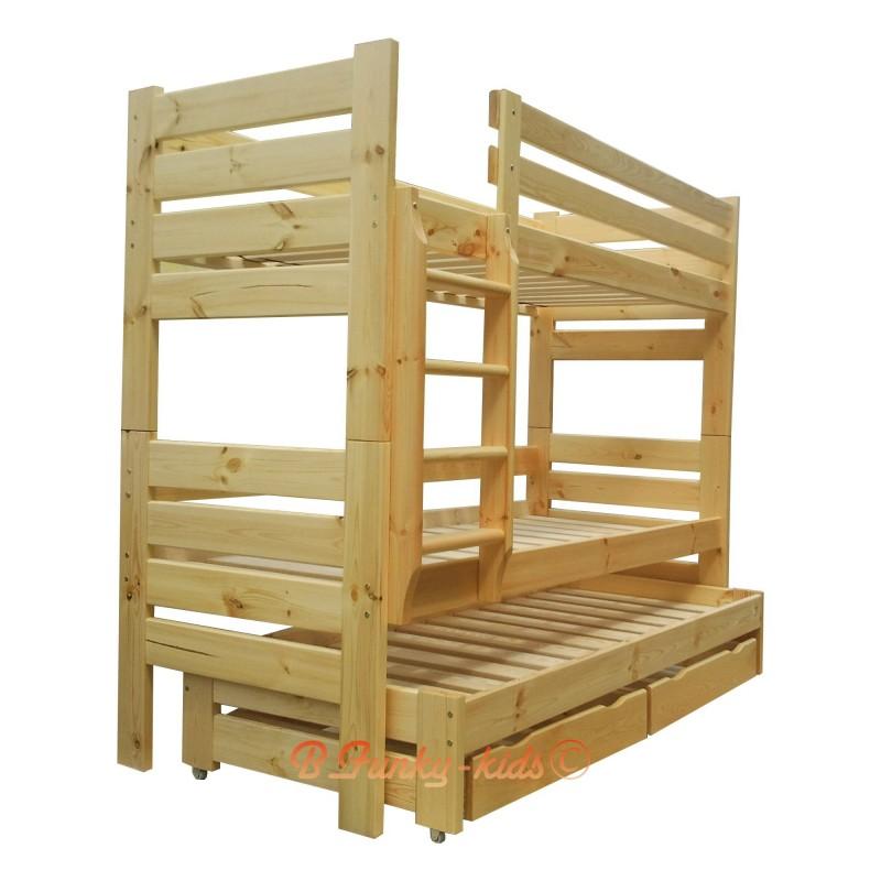 lit superpos avec lit gigogne gustavo 3 avec matelas et. Black Bedroom Furniture Sets. Home Design Ideas