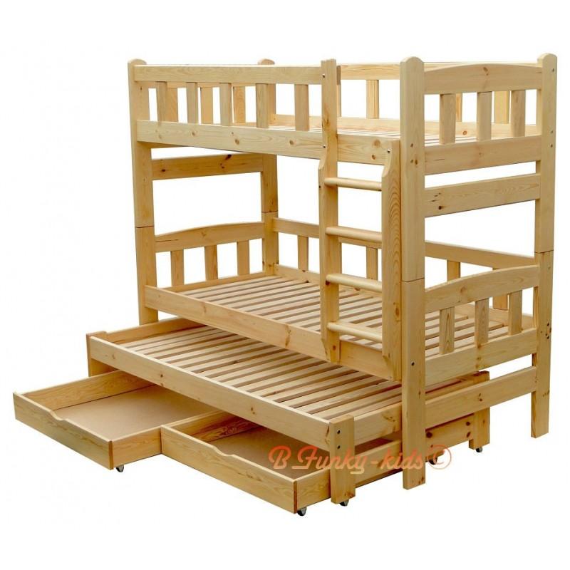 lit superpos avec lit gigogne nicolas 3 avec tiroirs 200x80 cm lit. Black Bedroom Furniture Sets. Home Design Ideas