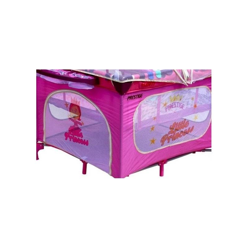 parc b b carr et lit voyage double jumeaux 2 en 1 rose princesse. Black Bedroom Furniture Sets. Home Design Ideas