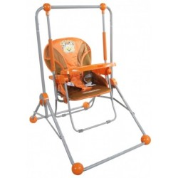 Balancelle et chaise 2 en 1 orange