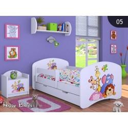 Lit enfant Happy Collection pour Garçon avec tiroir et matelas