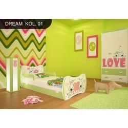 Lit enfant Rêves Verts Collection avec tiroir et matelas