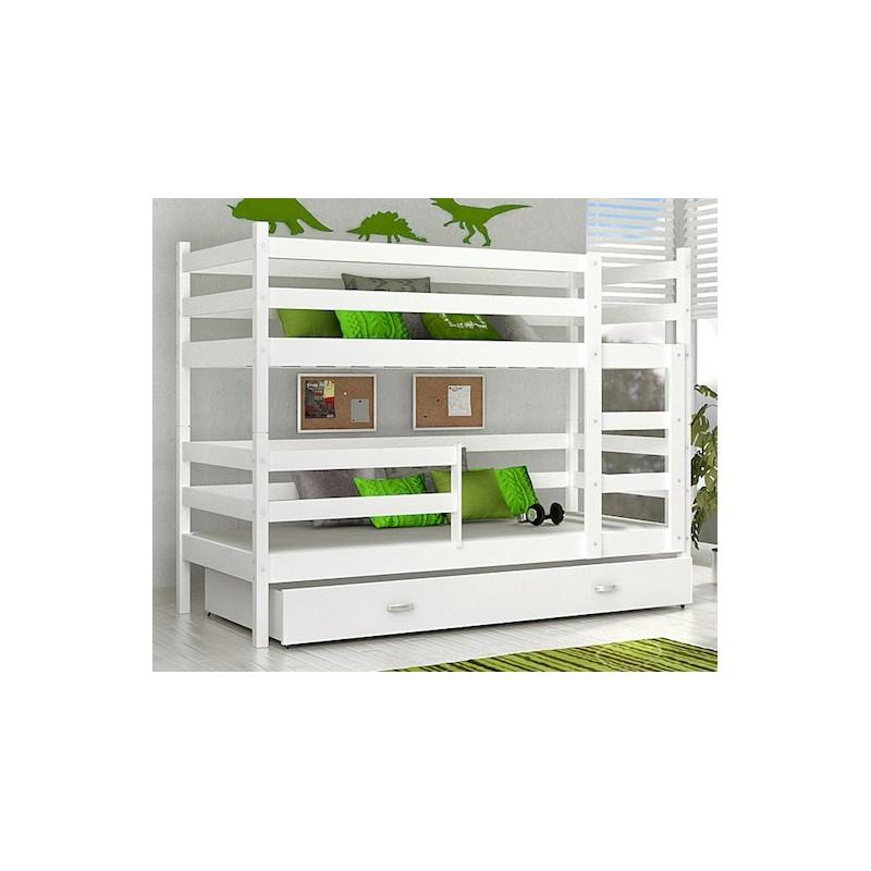 lit superpos john avec matelas et tiroir 180x80 cm lits. Black Bedroom Furniture Sets. Home Design Ideas