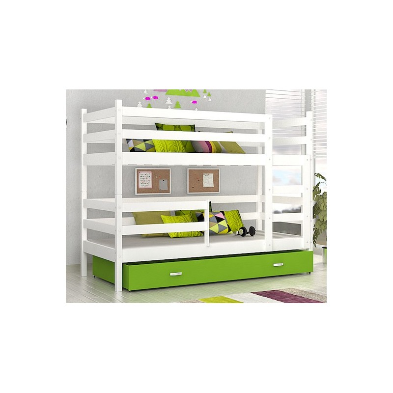 Lit superpos john avec matelas et tiroir 180x80 cm lits superpos s - Matelas pour lit tiroir ...