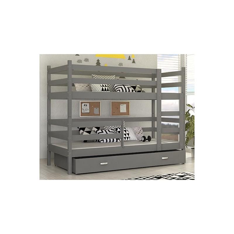 lit superpos john avec tiroir 180x80 cm lits superpos s. Black Bedroom Furniture Sets. Home Design Ideas