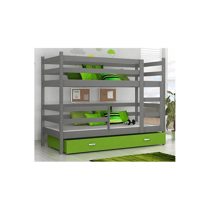 lit superpos john avec matelas et tiroir 180x80 cm lits superpos s. Black Bedroom Furniture Sets. Home Design Ideas