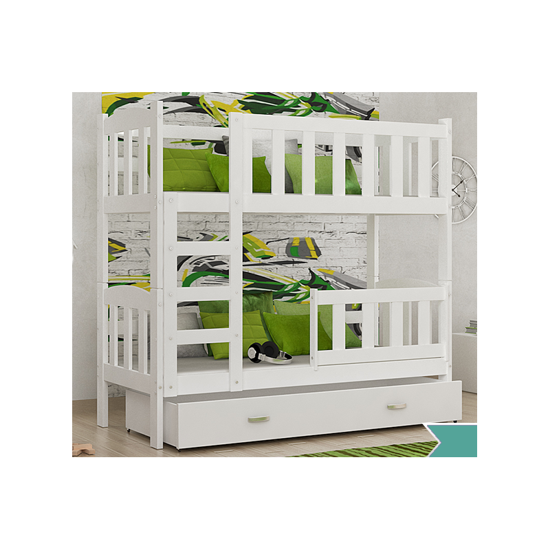 lit superpos en bois massif bambi avec tiroirs 160x70 cm lits supe. Black Bedroom Furniture Sets. Home Design Ideas