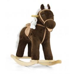 Cheval à Bascule Pony brun