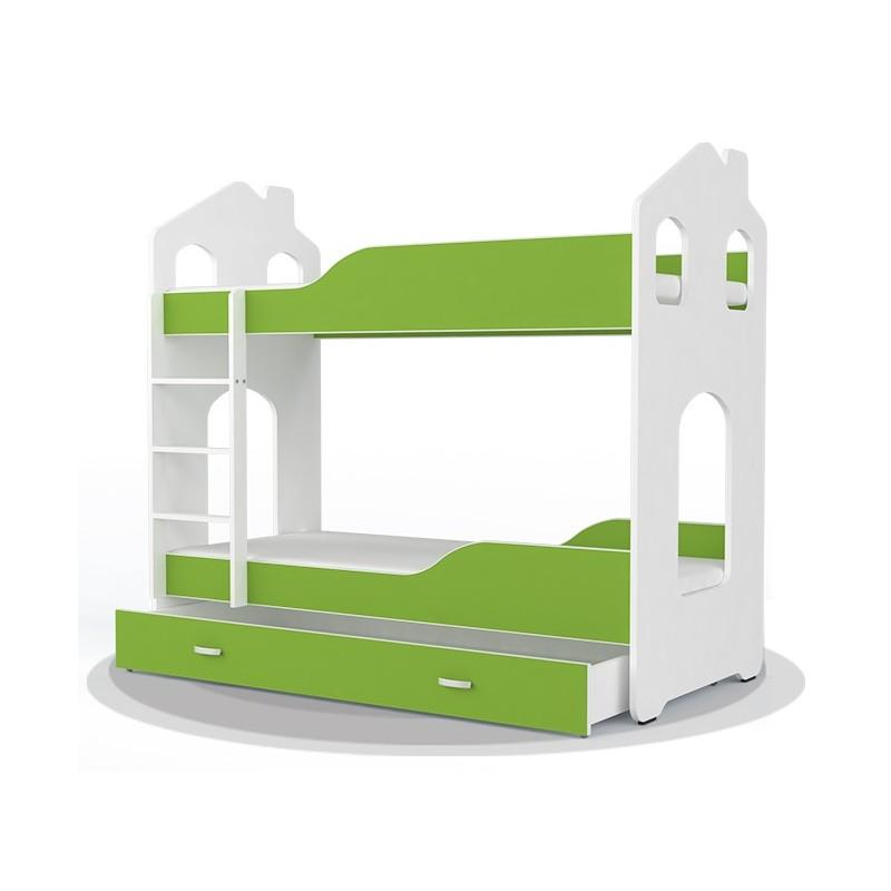 lit superpos avec matelas cabane maisonnette 180x80 cm lits superp. Black Bedroom Furniture Sets. Home Design Ideas