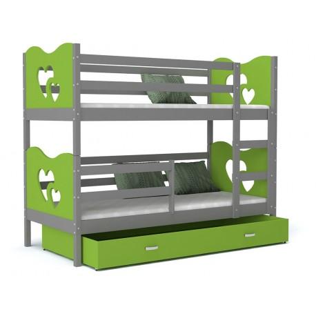 lit superpos 180x80 cm train papillons coeurs lits superpos s pour. Black Bedroom Furniture Sets. Home Design Ideas