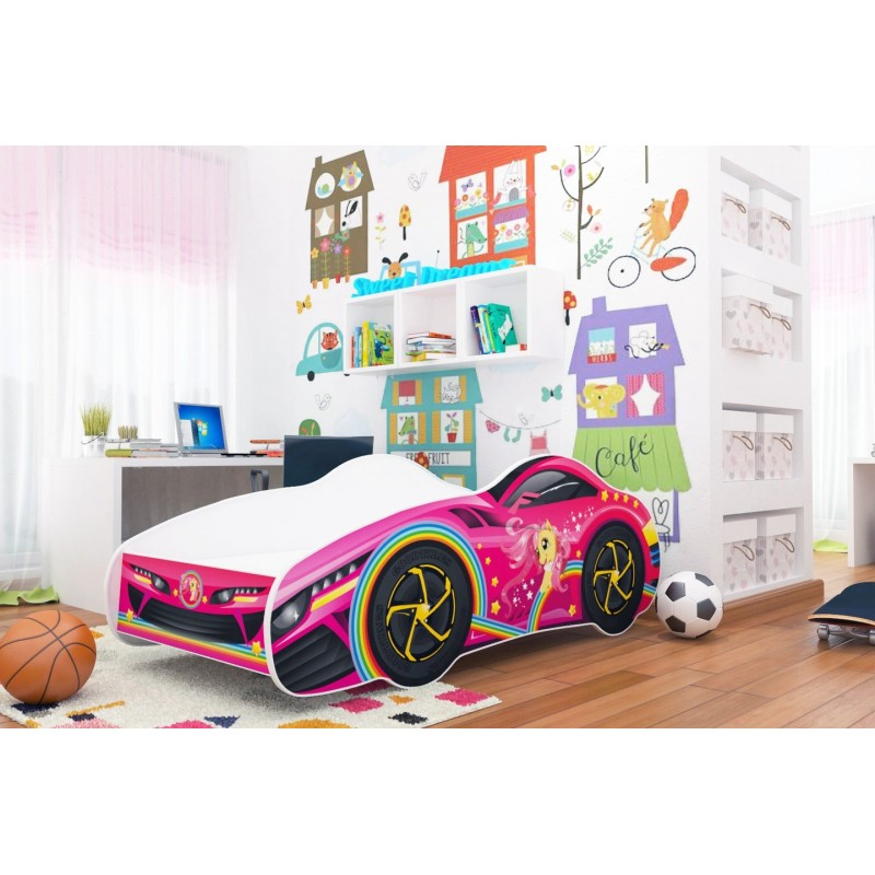 lit voiture fille gar on 140x70 cm lits en forme de voitures. Black Bedroom Furniture Sets. Home Design Ideas