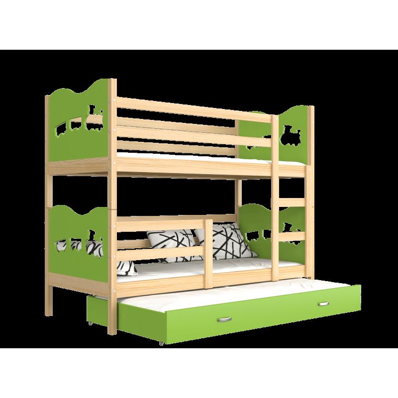 lit superpos avec lit gigogne 180x80 cm train papillons coeurs lit. Black Bedroom Furniture Sets. Home Design Ideas