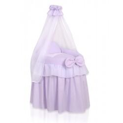 Berceau osier pour poupée Little Princess violet