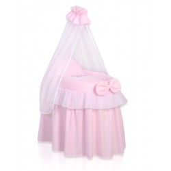 Berceau osier pour poupée Little Princess rose