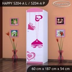 Armoire Happy Collection avec tiroirs et barre