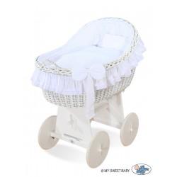 Berceau bébé osier Carine - Blanc