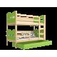 Lit superposé en bois massif 200x90 cm