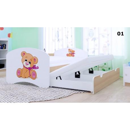 Lit enfant gigogne Happy Collection avec 2 matelas 180x90 cm