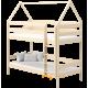 Lit superposé en bois massif Maison 180x90 cm