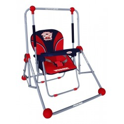 Balancelle et chaise 2 en 1 rouge