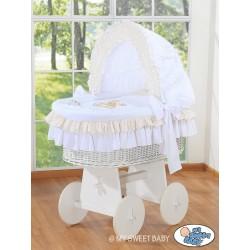 Berceau bébé osier Teddy - Blanc
