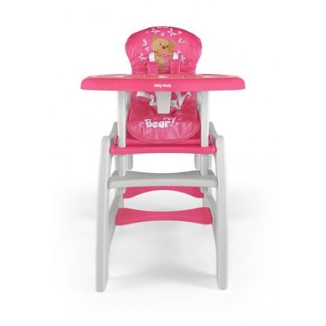 Chaise haute transformable en table et chaise Bear